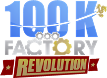 100K Revolution Logo PNsG For Black Back