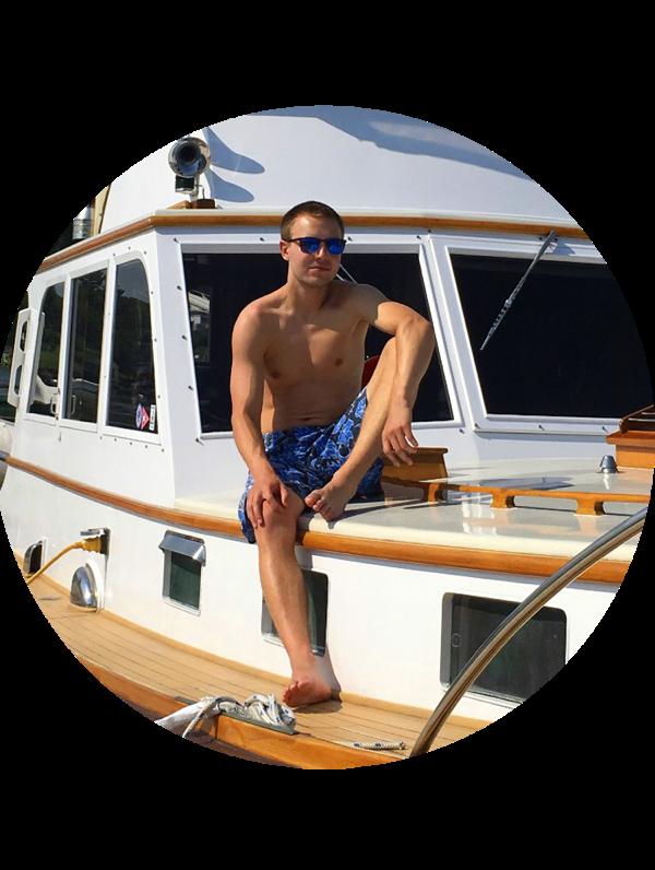Me on boat circle
