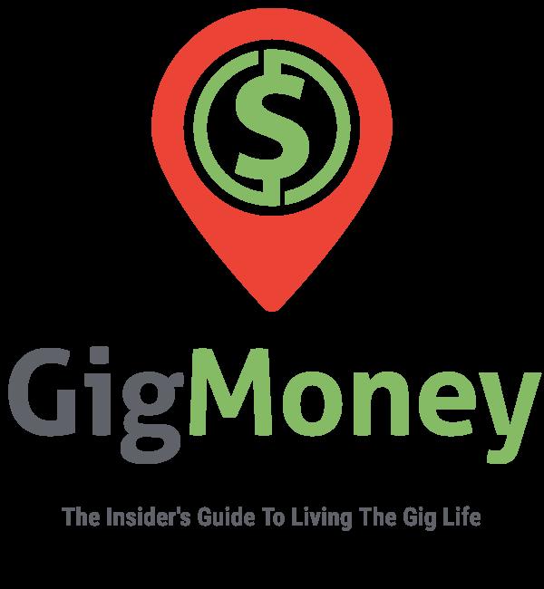 Gig money logo square color title